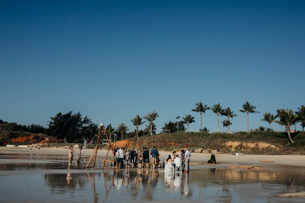 wide shot of a Cable Beach wedding in Western Australia