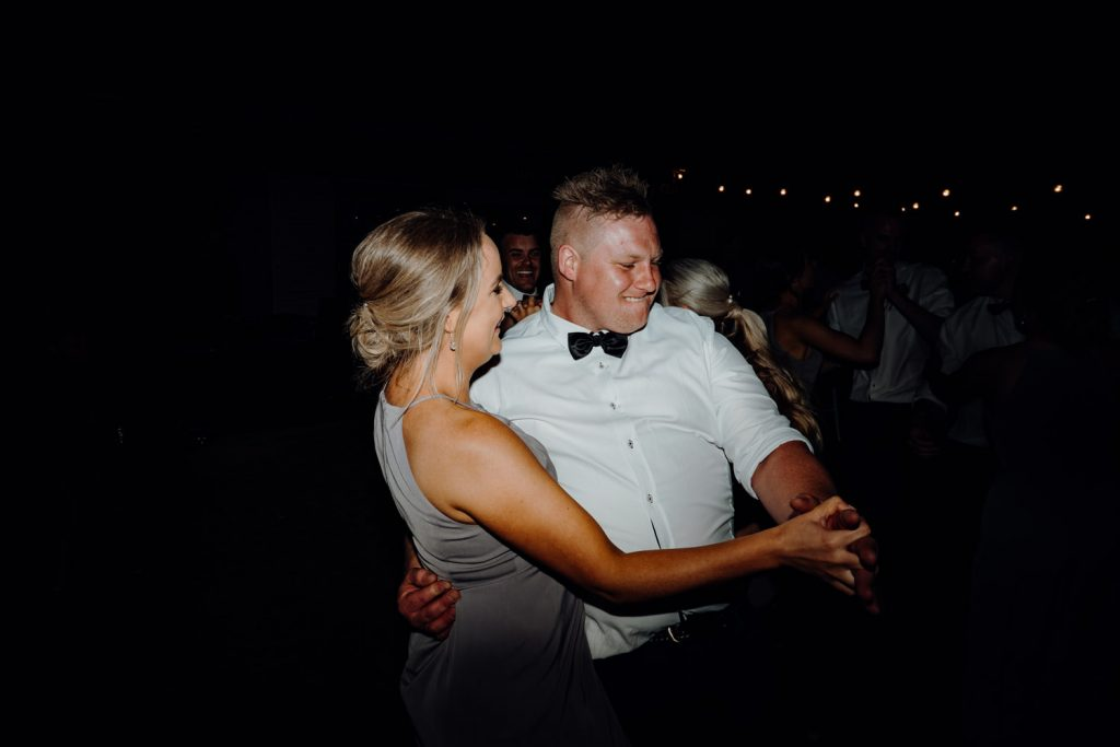 dancing couple at outdoor Broome wedding